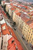 Prag çatılar — Stok fotoğraf