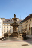 Prague castle fountain — Stock Photo