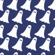 Stock Vector: Ghosts seamless pattern