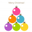 Christmas tree baubles — Stock Vector