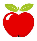 Red apple icon — Stock Vector
