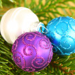 Christmas ornaments close up — Stock Photo #38726787