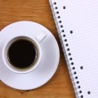 Coffee and notebook — Stock Photo #38729043