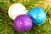 Christmas ornaments close up — Stock Photo