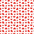 Seamless hearts pattern — Stock Vector