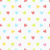 Hjärtan mönster — Stockvektor