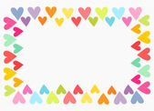 Colorful heart border — Stock Vector