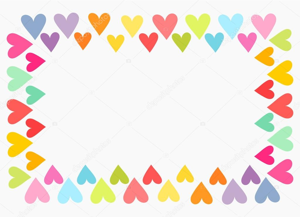 Heart Border Horizontal Colorful hearts border Heart Border Horizontal