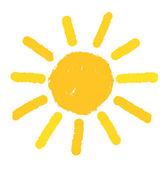 Painted sun illustration — Stock Vector
