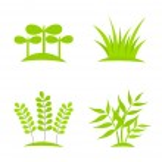 Plants icons — Stock Vector #43327303