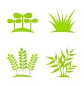 Plants icons — Stockvektor