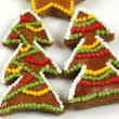 Christmas trees cookies — Stock Photo