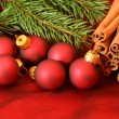 Christmas red decoration — Stock Photo #45158589