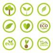 Eco symbols and icons — Stock Vector #46600511