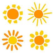 Sun drawings — Stock Vector