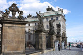 Royal castle entrance in Prague — Stock Photo