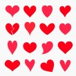 Set of hearts — Stock Vector #49581597