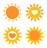 Suns icons — Stock Vector