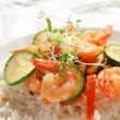 Shrimps and vegetables — Stock Photo #49947941
