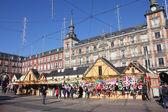Christmas market in Madrid — Stock Photo