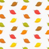Seamless autumn leaves texture — Stock Vector