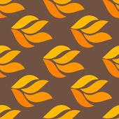 Autumn leaves seamless — Stock Vector