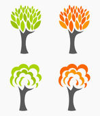 Autumn and spring trees — Stock Vector