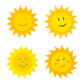 Suns with smile — Stock Vector