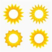 Sun labels — Stock Vector