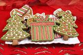 Christmas trees cookies — Stock Photo