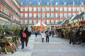 Christmas market in Madrid — Stock Photo