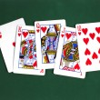 Stock Photo: Royal flush 2