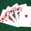Stock Photo: Royal flush 3