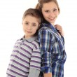 Two happy young kids — Stock Photo