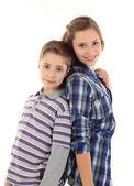 Dwa szczęśliwe dzieciaki — Zdjęcie stockowe
