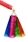 Shopping bags. Isolated on white. — Stock Photo