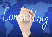 Hand writing consulting — Stockfoto
