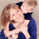 Family Portrait von Mutter und Sohn — Stockfoto