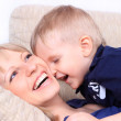 Family portrait of mother and son — Stock Photo