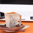 Stock Photo: Cup of coffee with chocolate