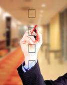 Elegir una de las opciones de la mano — Foto de Stock