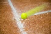 Fast tennis ball — Stock Photo