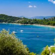 Blue water bay — Stock Photo