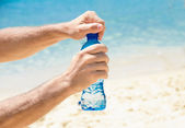 Cold water at the beach — Stock Photo