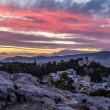 Athens & Pink sunset — Stock Photo