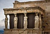 Acropolis caryatids — Stock Photo