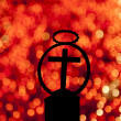 Stock Photo: Cross and candles