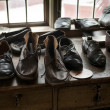 Stock Photo: Handmade leather shoes