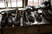 Handmade leather shoes — Stock Photo