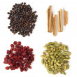 Stock Photo: Four Spices and Berries for Gin Tonic